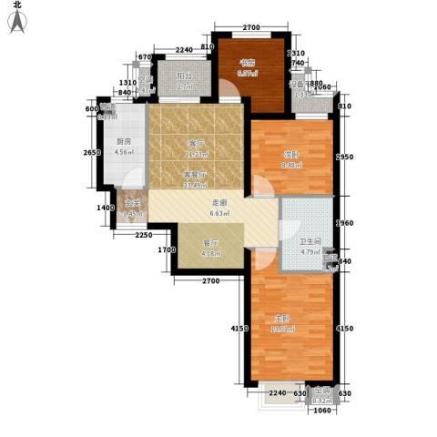 五琴花园3室1厅1卫1厨96.00㎡户型图