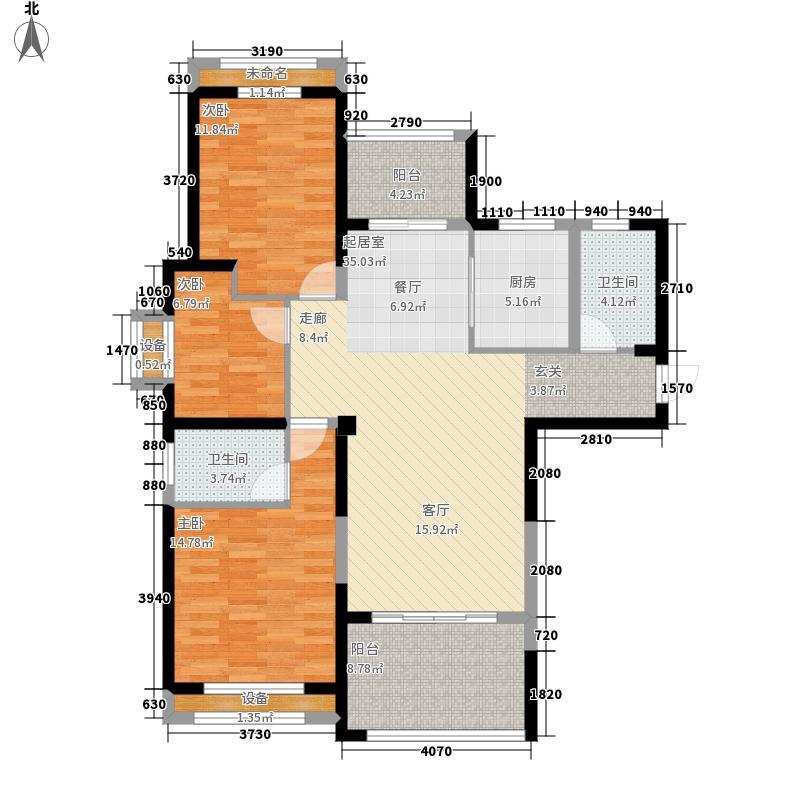 圣联梦溪小镇113.00㎡6#04户型3室2厅
