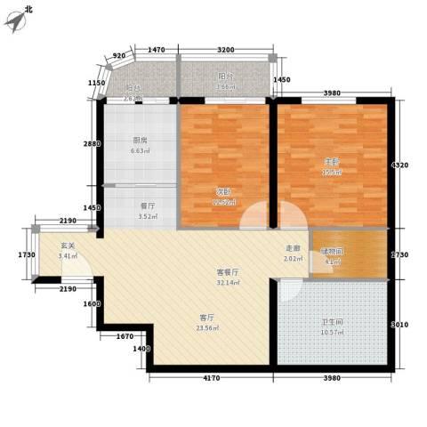 景润花园2室1厅1卫1厨99.00㎡户型图