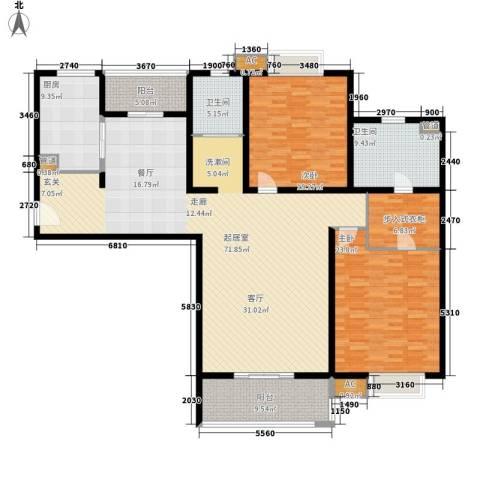 枫叶大厦2室0厅2卫1厨182.00㎡户型图