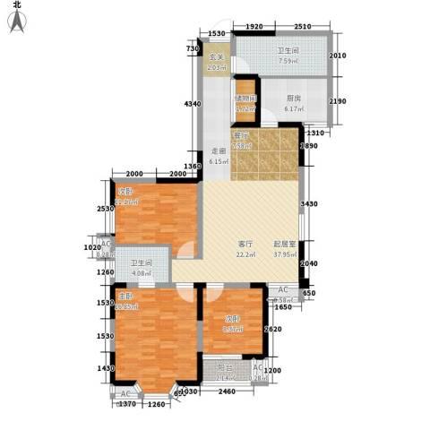 罗曼公社3室0厅2卫1厨113.00㎡户型图