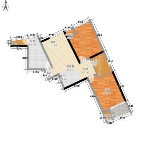 嘉润蓝湾1室0厅1卫1厨103.00㎡户型图