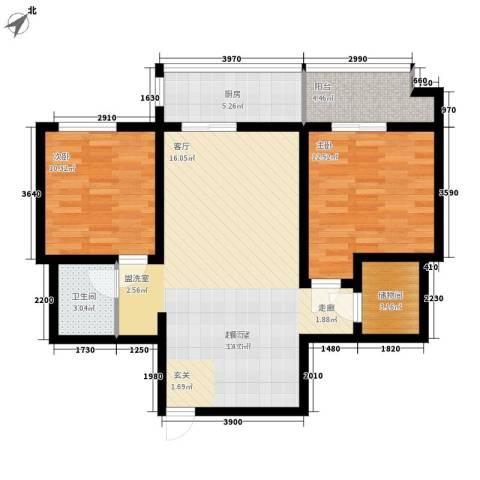 电子城教育局小区2室0厅1卫1厨82.00㎡户型图