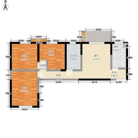 紫云溪3室0厅1卫1厨108.00㎡户型图
