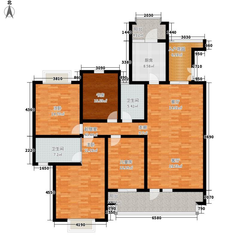康大·山语海160.00㎡洋房建筑面积约为C-2户型4室2厅