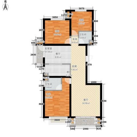锐点嘉苑3室0厅2卫1厨132.00㎡户型图