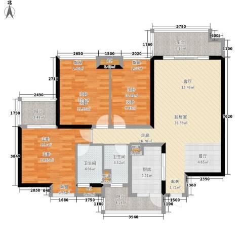 凤锦苑3室0厅2卫1厨150.00㎡户型图