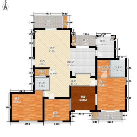 伟业都市远景4室0厅2卫1厨155.00㎡户型图