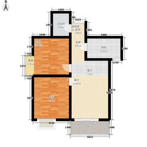 电子城教育局小区2室0厅1卫1厨93.00㎡户型图