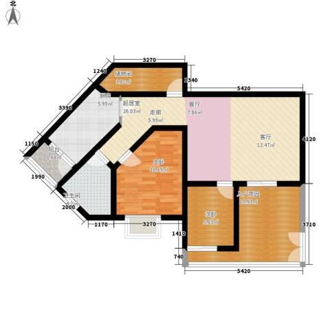 荔城花园2室0厅1卫1厨81.00㎡户型图