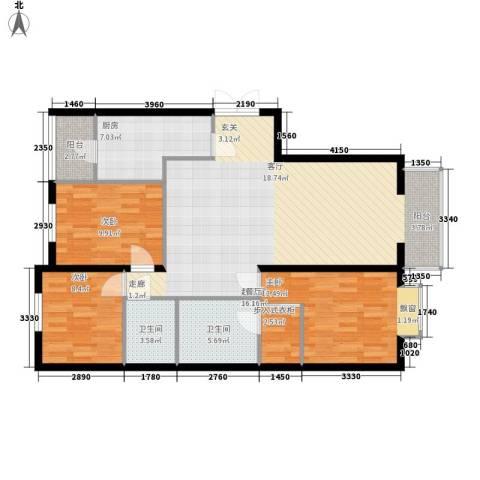 永宁小区3室0厅2卫1厨102.00㎡户型图