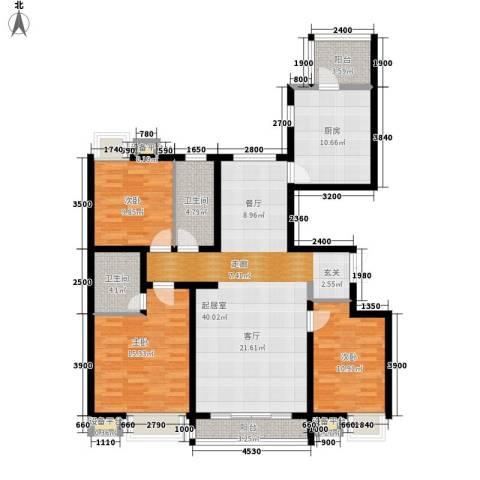 万达广场3室0厅2卫1厨149.00㎡户型图
