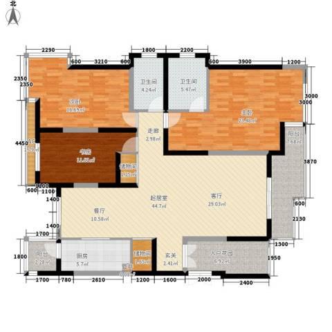 九锦台3室0厅2卫1厨168.00㎡户型图