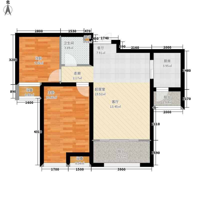 左右城107.00㎡松江城左右城二期107.00㎡2室2厅1卫户型2室2厅1卫