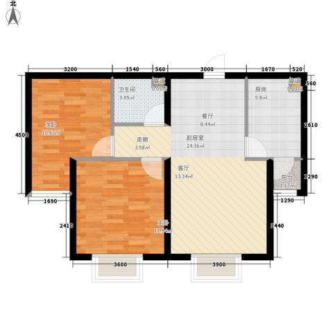 锐点嘉苑2室0厅1卫1厨86.00㎡户型图