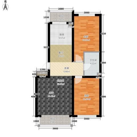 建龙第一城2室0厅1卫0厨96.00㎡户型图