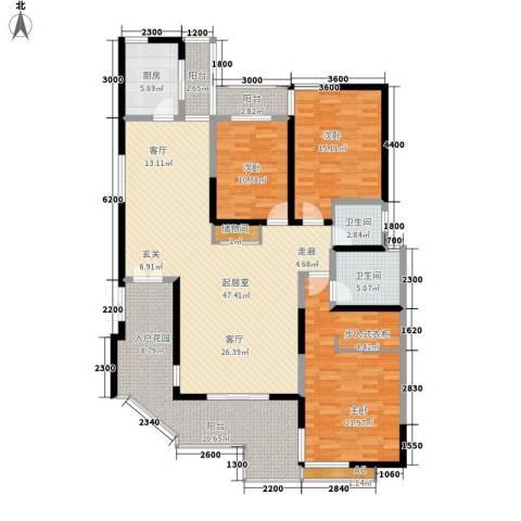 九锦台3室0厅2卫1厨170.00㎡户型图