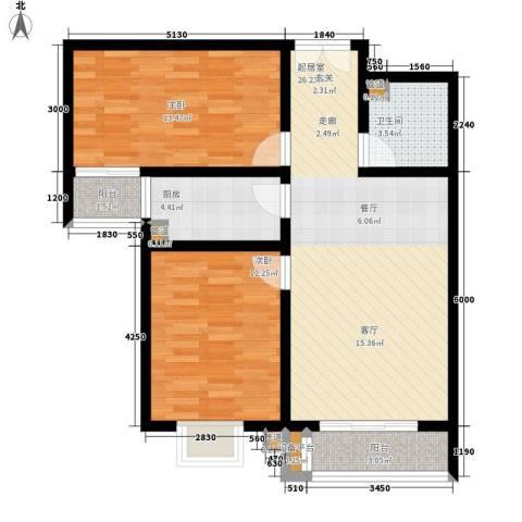馨港郦景2室0厅1卫1厨95.00㎡户型图
