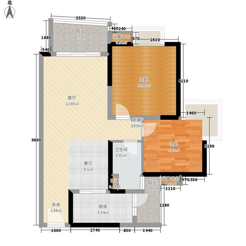 中海金沙湾85.20㎡B6栋29-33层0面积8520m户型