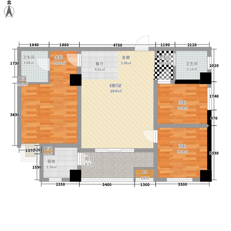 盛龙广场120.58㎡1、4号楼C1户型