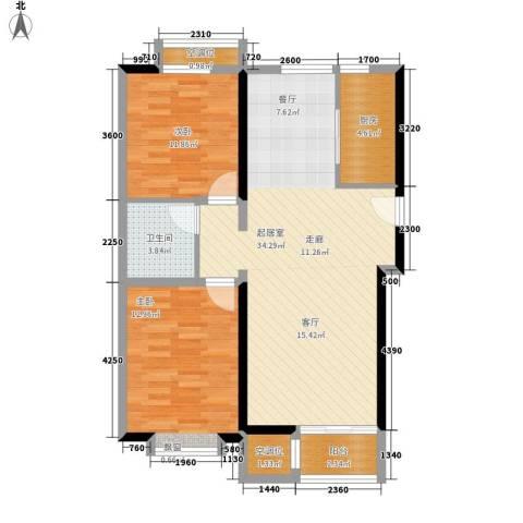 兴泰里2室0厅1卫1厨81.24㎡户型图