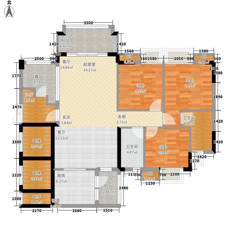 广州富力城122.42㎡B14栋04单元面积12242m户型