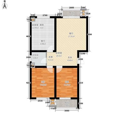 馨港郦景2室0厅1卫0厨103.00㎡户型图