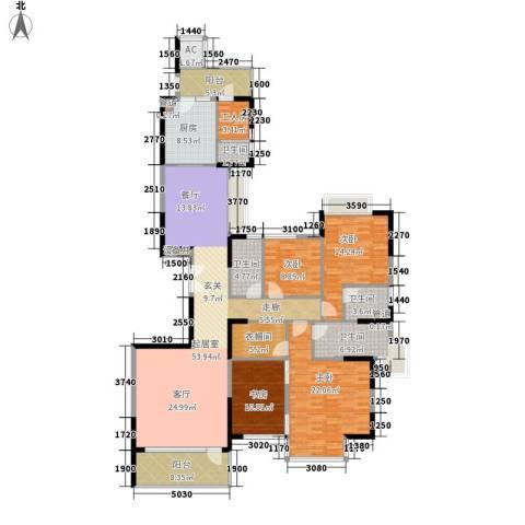 粤海丽江花园4室0厅4卫1厨188.00㎡户型图