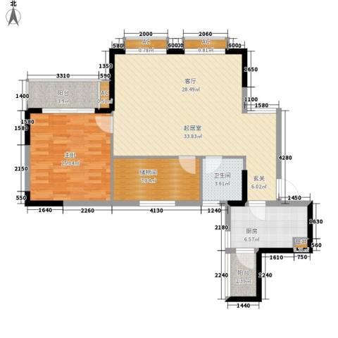 金河湾家园1室0厅1卫1厨86.00㎡户型图