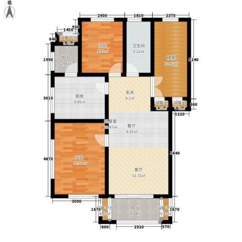 盛世景苑2室0厅1卫1厨125.00㎡户型图