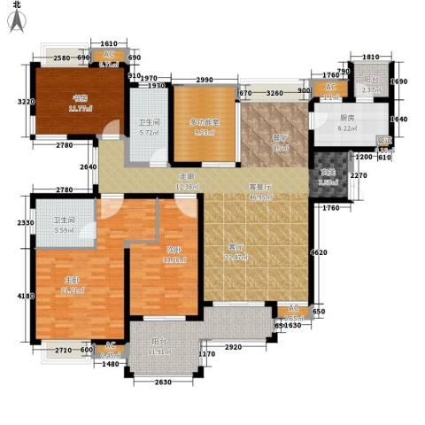 中海熙岸3室1厅2卫1厨158.00㎡户型图