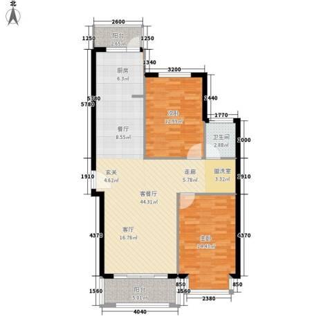 凤凰新城2室1厅1卫0厨109.00㎡户型图