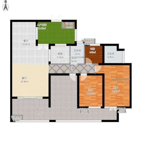 富中蝴蝶谷3室1厅2卫1厨203.00㎡户型图