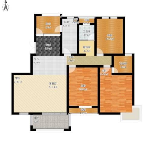 仙龙湾山庄3室1厅2卫1厨181.00㎡户型图