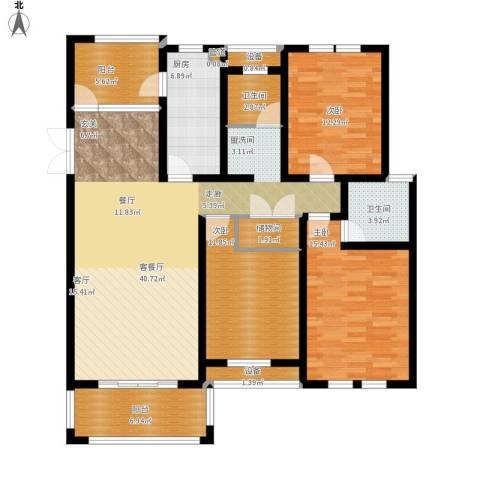 仙龙湾山庄3室1厅2卫1厨161.00㎡户型图