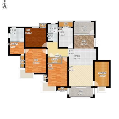 仙龙湾山庄3室1厅2卫1厨203.00㎡户型图