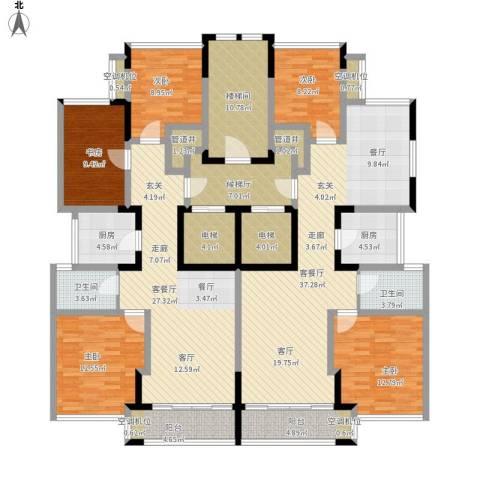 ART蓝海5室2厅2卫2厨254.00㎡户型图