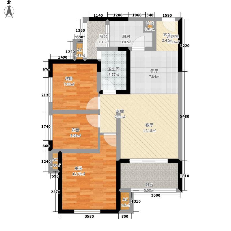 佳兆业君汇上品85.00㎡一期2号楼面积8500m户型