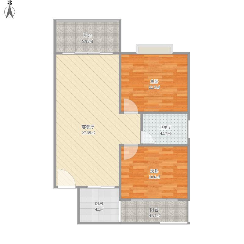 金化中央珑庭房型图