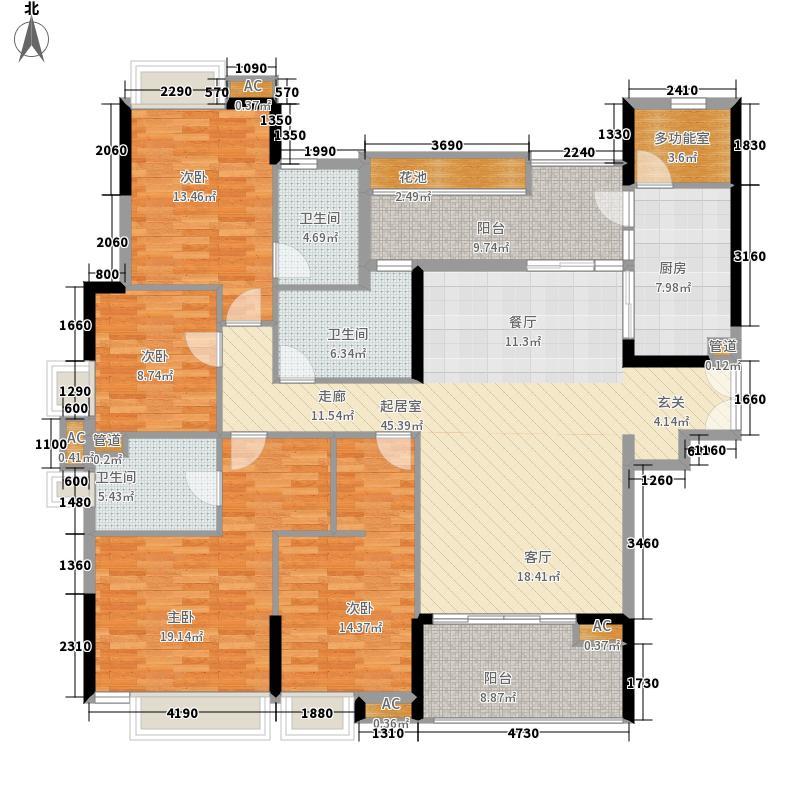 广州新塘新世界花园170.44㎡14栋03单元4室户型