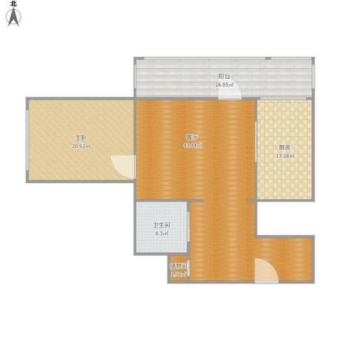 幸福二村1室1厅1卫1厨139.00㎡户型图