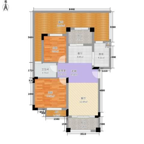 南沙碧桂园2室0厅1卫1厨119.00㎡户型图