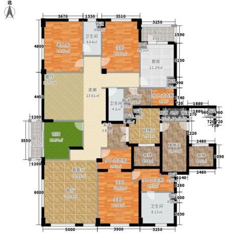 桥机嘉园3室1厅3卫1厨305.00㎡户型图