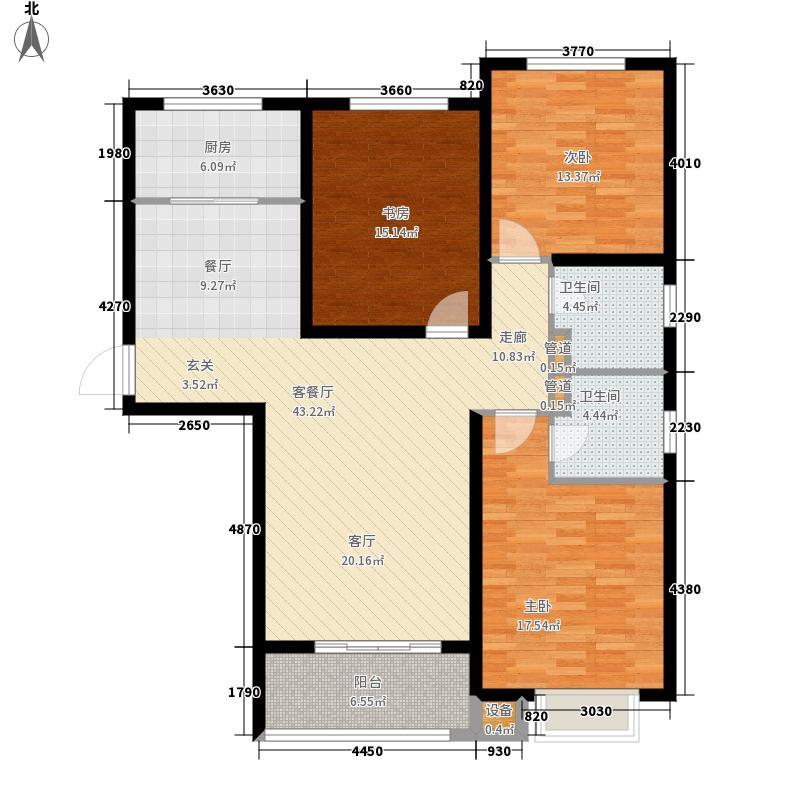 良城国际二期5#1单元标准层A3室户型