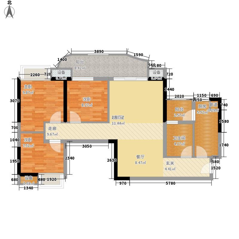 翠城花园95.33㎡20栋4层04单元面积9533m户型