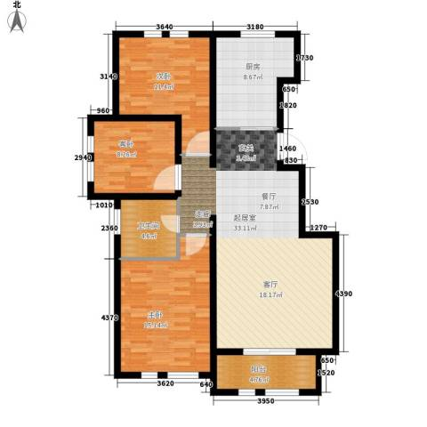 东方国际城3室0厅1卫1厨98.00㎡户型图