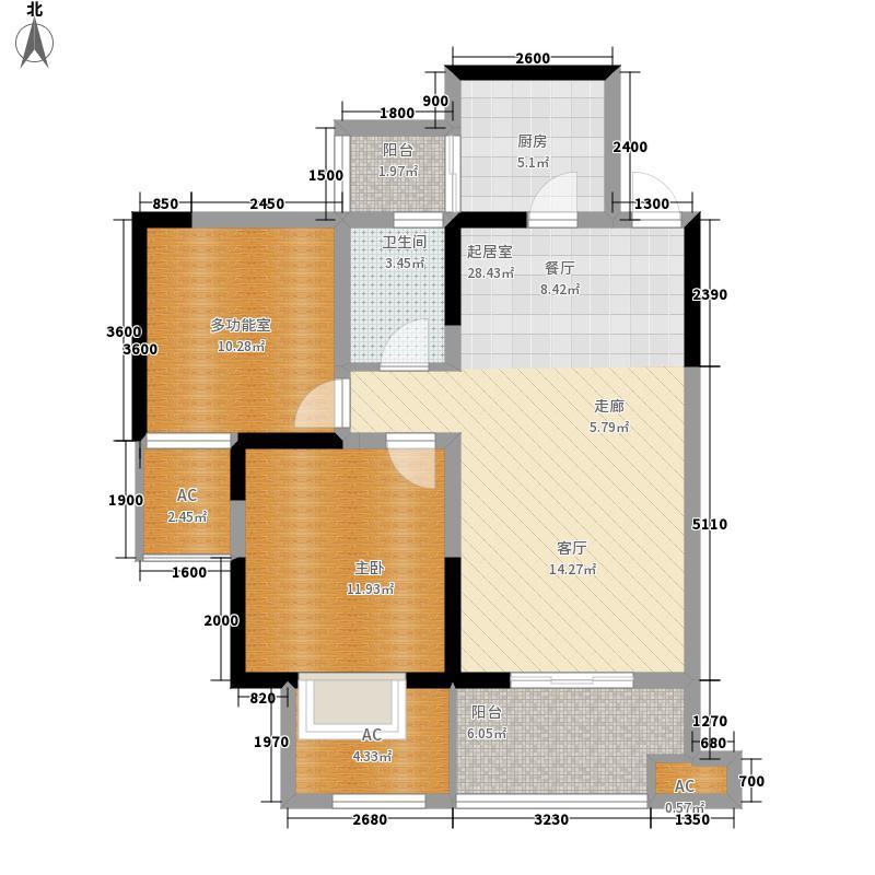 慕和南道80.02㎡二期天堂岛12栋面积8002m户型