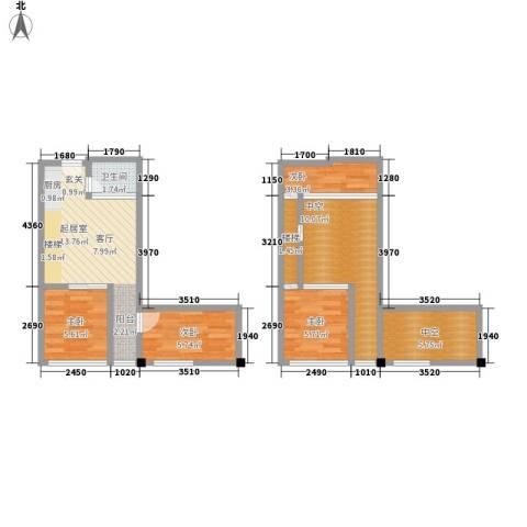 芒果公寓4室0厅1卫0厨63.00㎡户型图