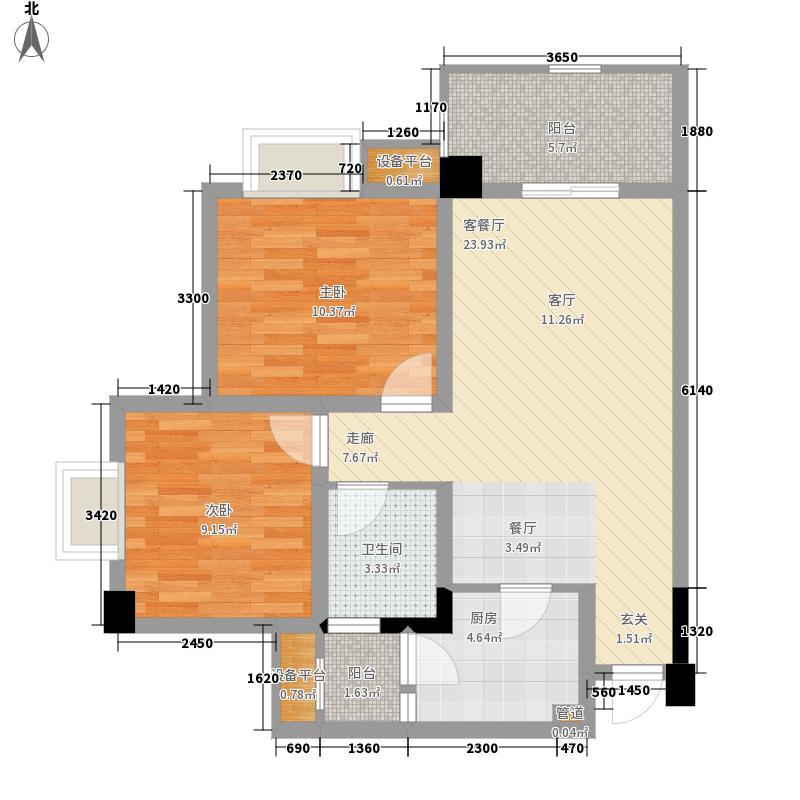 上锦颐园79.28㎡标准层H12面积7928m户型