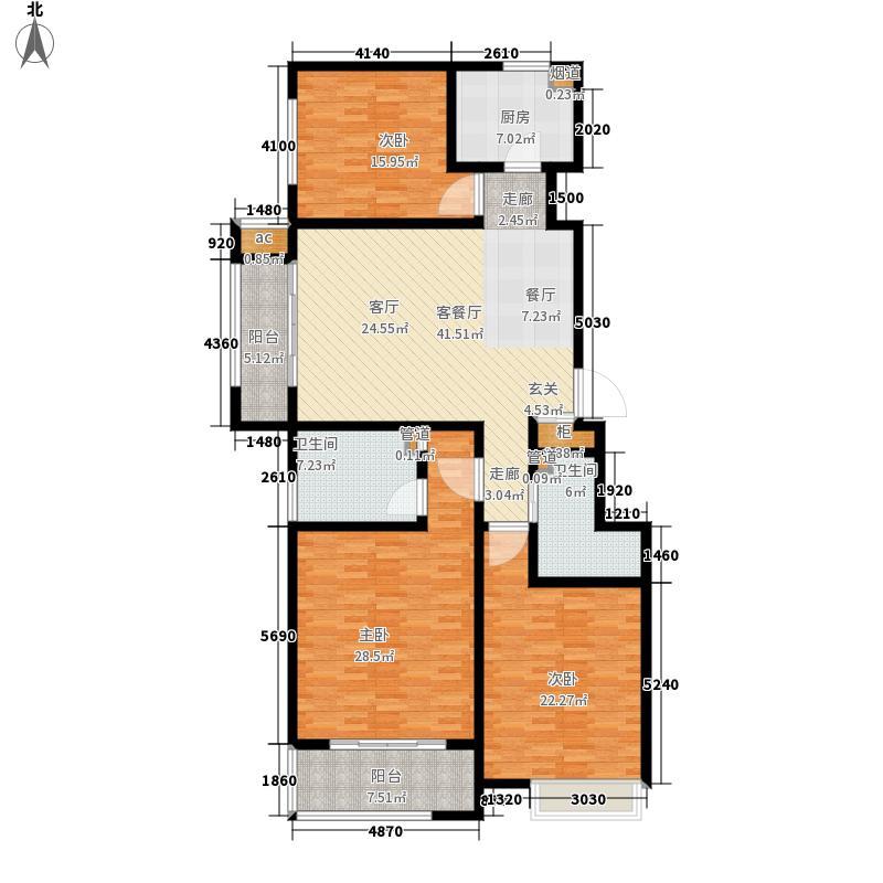联城·海岸锦城7#楼C户型3室2厅